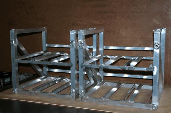 アルミ角パイプ溶接構造物