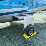 航空機用アルミ製車輪止めを製作いたしました。