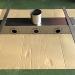 溶接による歪を最小限に抑える工法