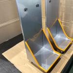 ヘリウムガスボンベ用カート台車の製作