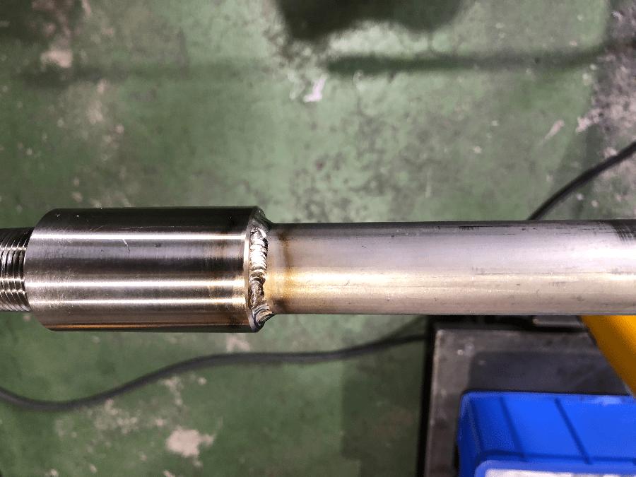 チタン配管溶接技術事例(改修)