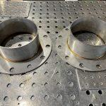 SUS304 200Aフランジのロール加工と溶接のしかた